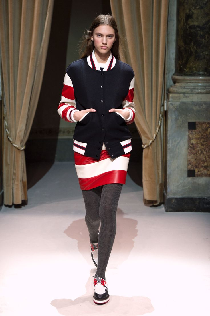 Look 4 from Fay Women's Fall - Winter 2014/15 collection seen on the catwalk.