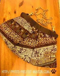 Project run-A-way: batik clutch with a glam!