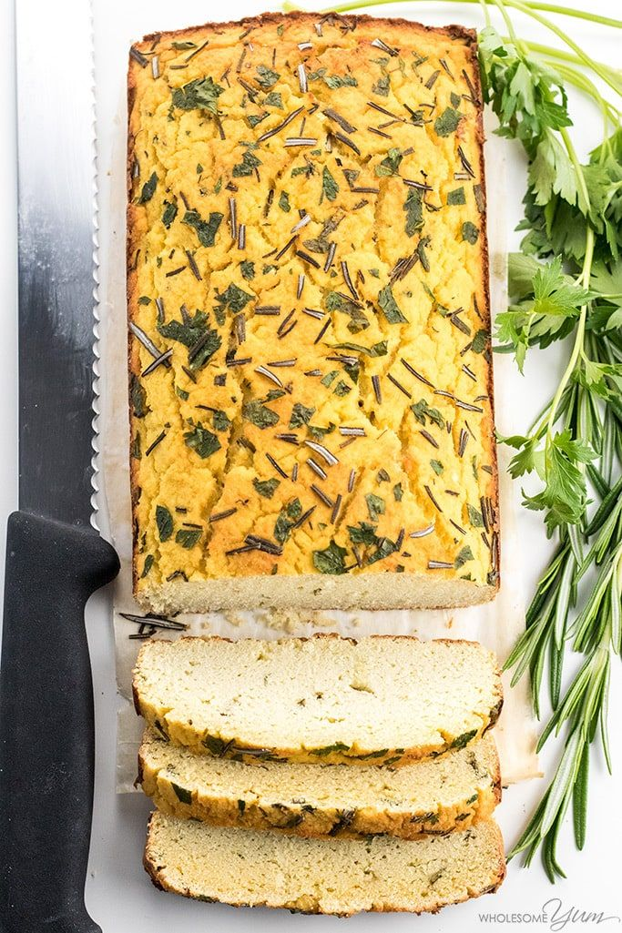 Cauliflower Bread Recipe With Garlic Amp Herbs Ndash Low Carb