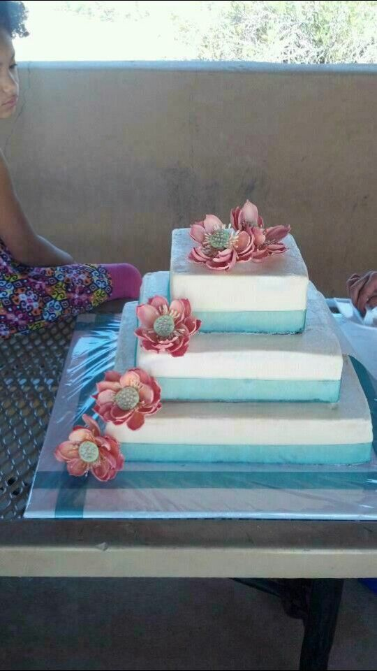 Lotus blossom wedding cake