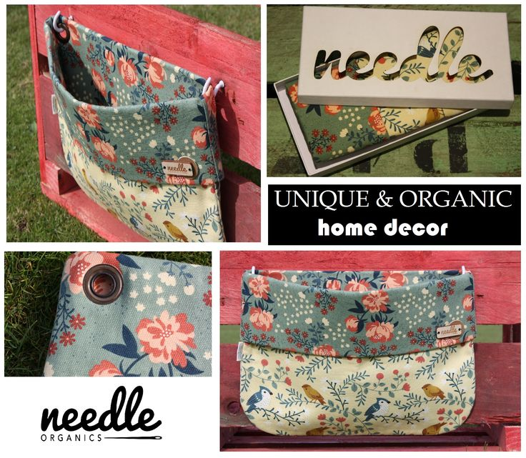 """WALLBAG """"Granny's Home""""- - decorate your home and use this bag to store the little things everyone has.  Handmade with 100% certified organic cotton."""