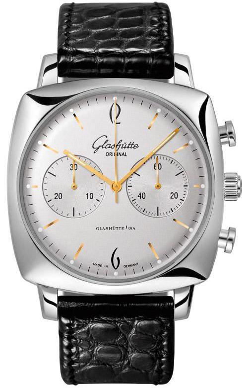 39-34-03-32-04 Glashutte Original Sixties Square Chronograph Mens Watch