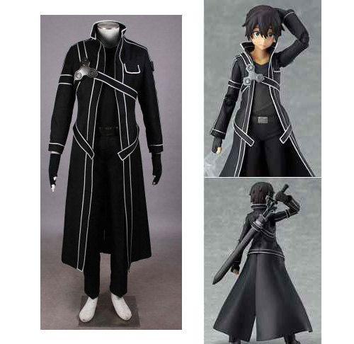 Anime Sword Art Online Kirito Cosplay halloween Costume ...