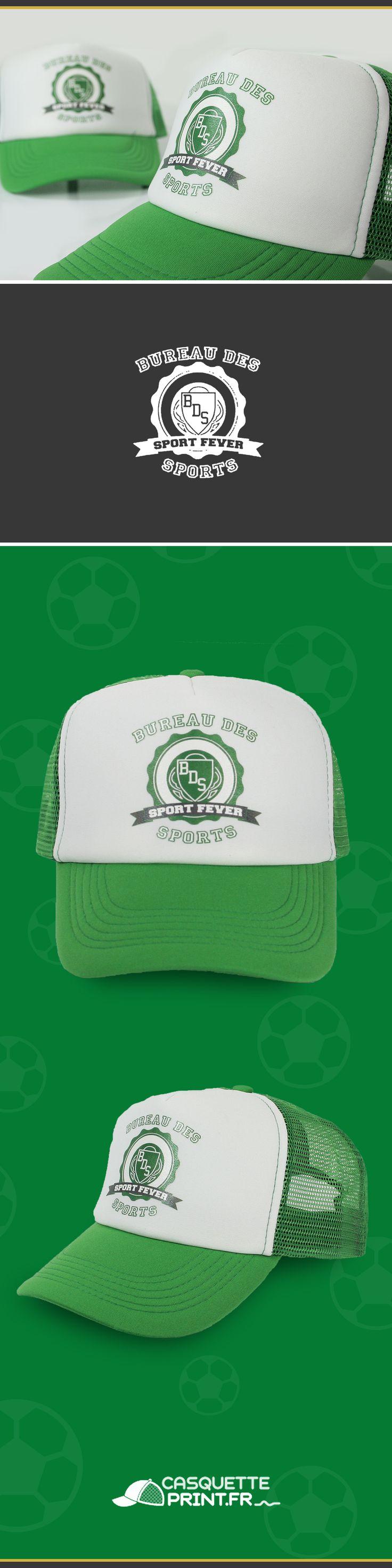 Casquette Trucker à personnaliser pour équipe de sport ou club sportif.  Créez votre casquette unique pour votre club de foot, basket ou tennis. #casquette #trucker #club #foot #sport #basket #football #soccer #green #truckerclassic #truckerjunior #casquettes #associations