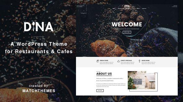 Dina is a modern, clean and minimal restaurant WordPress theme. #food #restaurant #wordpress #theme | Get it here: https://themeforest.net/item/dina-restaurant-bar-cafe-food-wordpress-theme/19431184?ref=dronestarstudio