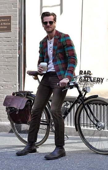 #bicycle #plaid #coffee #goodmorning