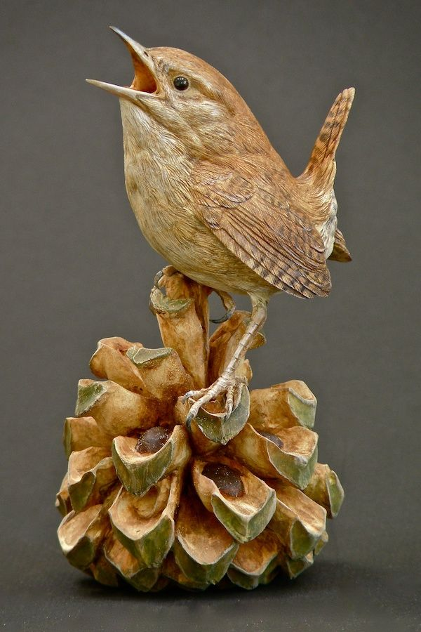 So very sweet...so very clever...Lona Hymas Smith: Wren, Pinion Cone