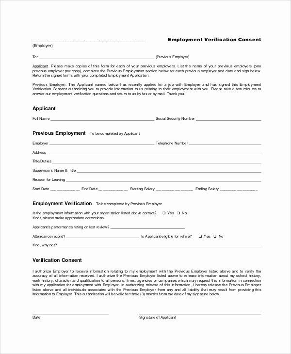 25 Previous Employment Verification Form In 2020 Templates Job Application Form Employment Form