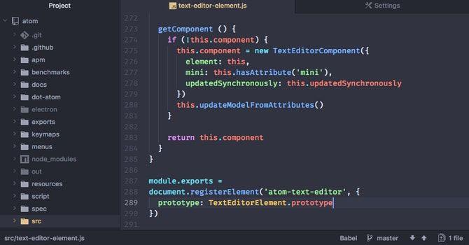 Atom code editor