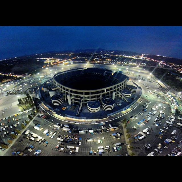 San Diego Chargers Qualcomm stadium at night. Excited to head back to SD this weekend and get some more shots during the day during comicon! by aerialoptic