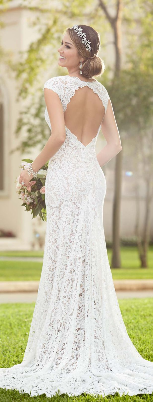 Cute Stella York Spring Bridal Collection Simple Lace Wedding DressStella