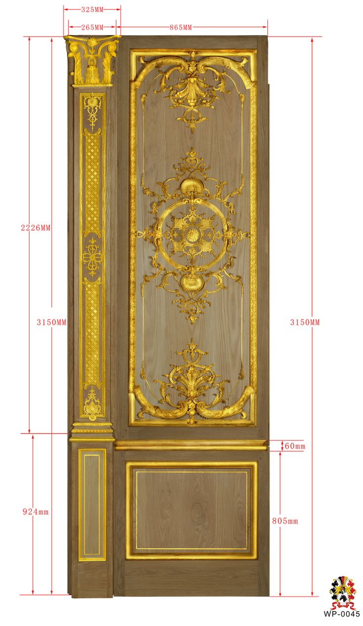 custom made wall panel from oak wood gilded with 24 K real gold made by www.rubensartgallery.com