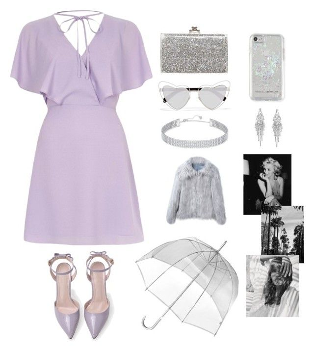 """""""Pretty in Flieder"""" by meljosie on Polyvore featuring Mode, River Island, Ashlyn'd, Yves Saint Laurent, Rebecca Minkoff, Totes, Swarovski, Humble Chic und WithChic"""