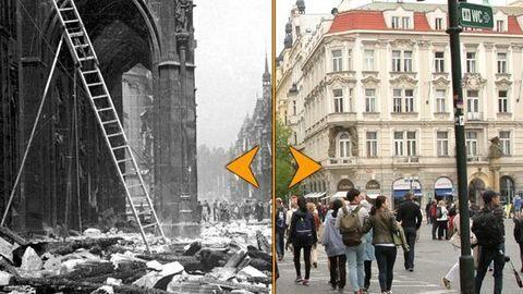 Místa, kde v květnu před 70 lety stály barikády či probíhaly boje mezi pražskými povstalci a německými jednotkami, se leckdy změnila téměř k nepoznání.