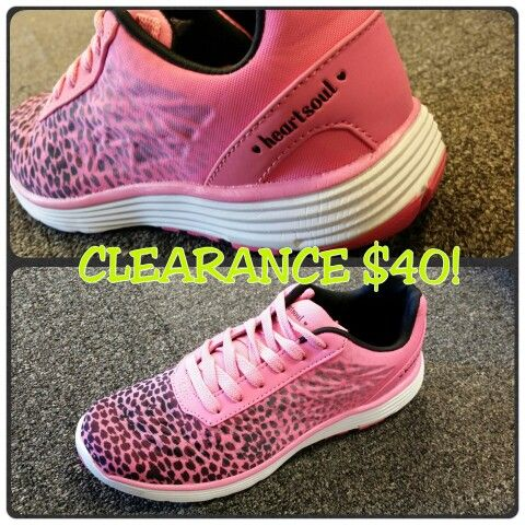 heartsoul memory foam tennis shoe on clearance for 40 hurry only a few left