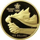 1987 Canadian $100 Proof Gold - Calgary Olympics (.25 oz of Gold)