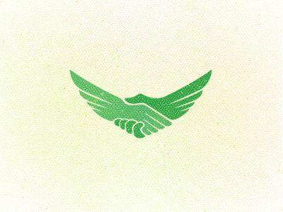 Aquila Logo design by Breno Bitencourt. Handshake, bird, wings... f'in brilliant!