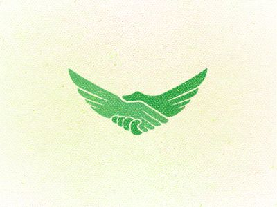 I thought this was a rally creative logo incorporating both the handshake and the wings.    I also like the color palette