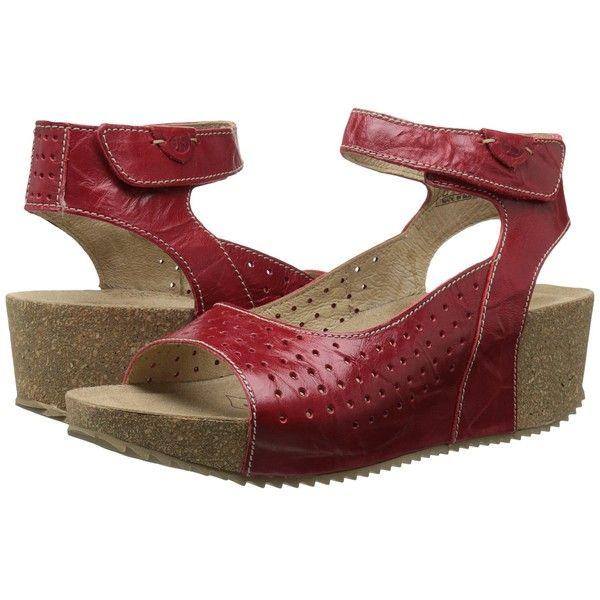 Josef Seibel Meike 01 Women's Wedge Shoes ($135) ❤ liked on Polyvore featuring shoes, sandals, josef seibel shoes, josef seibel sandals, wedges shoes, velcro strap shoes and platform wedge sandals