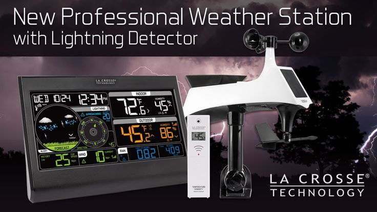New Professional Weather Station with Lightning Detector - YouTube