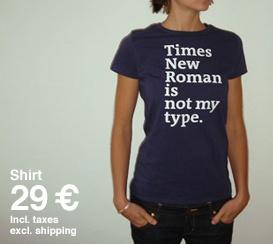 Times New Roman tee