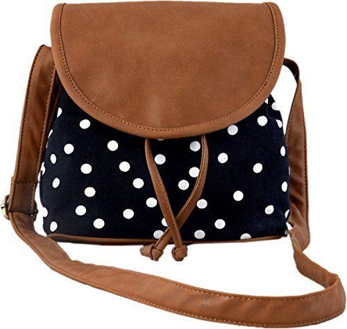Kleio Women's Sling Bag (Black And Brown,Bnb315Ly-Bl)