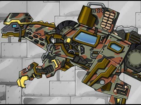 Робот - Динозавр - Джип мультики для детей про роботов Робот   Трансформер