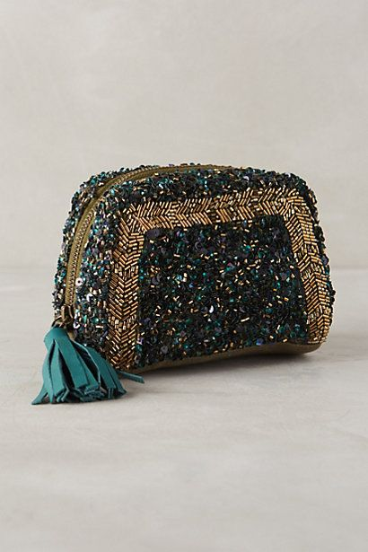 What a cute pouch!  Geode Sequin Pouch #anthropologie