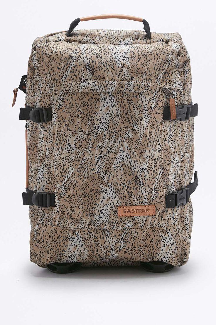 Eastpak Tranverz S Leopard Brown Suitcase