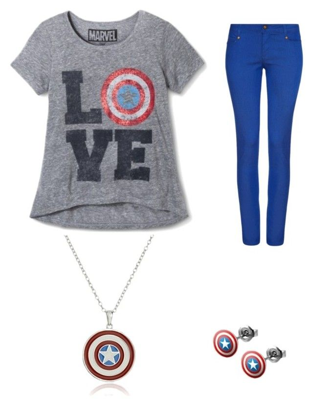 """""""Modern captain America"""" by kourtney-markham on Polyvore featuring AFTERSHOCK, modern, women's clothing, women, female, woman, misses and juniors"""