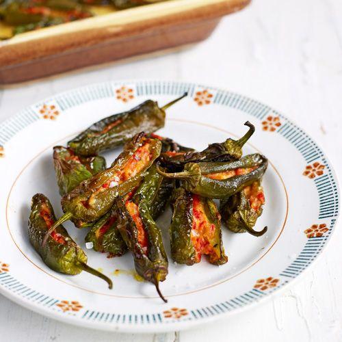Gevulde groene pepers