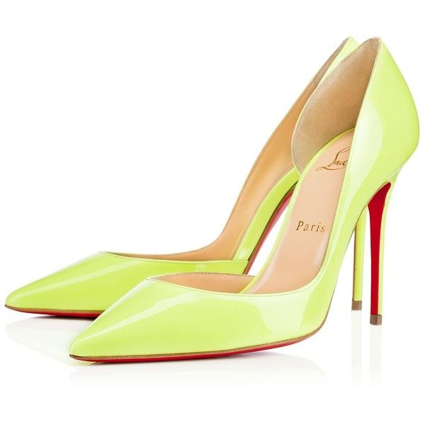 CHRISTIAN LOUBOUTIN Iriza 100 Patent Patent Spring/Summer '16 (£480) ❤ liked on Polyvore featuring shoes, patent leather formal shoes, patent shoes, summer shoes, christian louboutin shoes and sexy high heel shoes