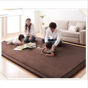 Velvet Coral quarto mesa chão tapete tatami cama rosa cobertor tapete tapetes de crianças tapetes e carpetes para casa sala de estar moderna...