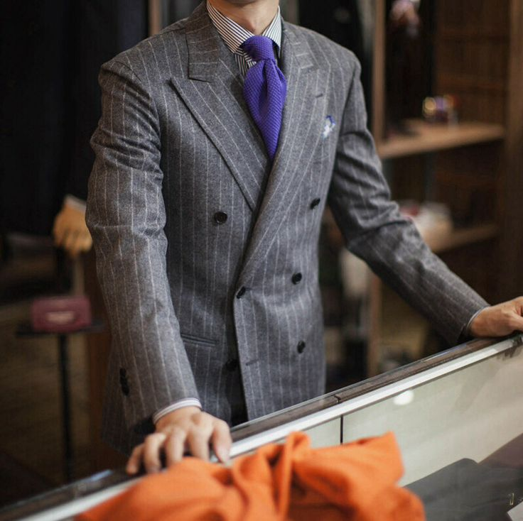 Grey Pinstripe Suit on Pinterest. 100  inspiring ideas to discover ...