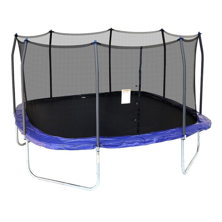 Skywalker Trampolines 15' Square Trampoline with Enclosure, Blue - Sam's Club