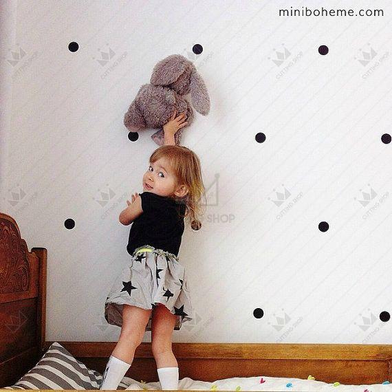 24 pz/lotto home decor 4 cm polka dots cerchi in vinile stickers murali autoadesivi mobili cabinet frigo diy colla libera la nave, m2s1