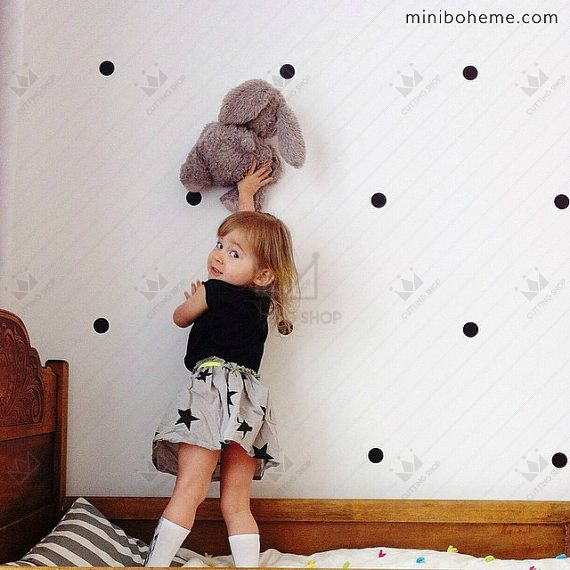24 pcs/lot home decor 4 cm polka dots lingkaran vinyl decals stiker dinding furniture kabinet kulkas diy lem kapal gratis, m2s1
