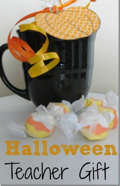 Halloween Teacher Gift Idea. These are so easy to make and your teacher will thank you. #halloween #gifts