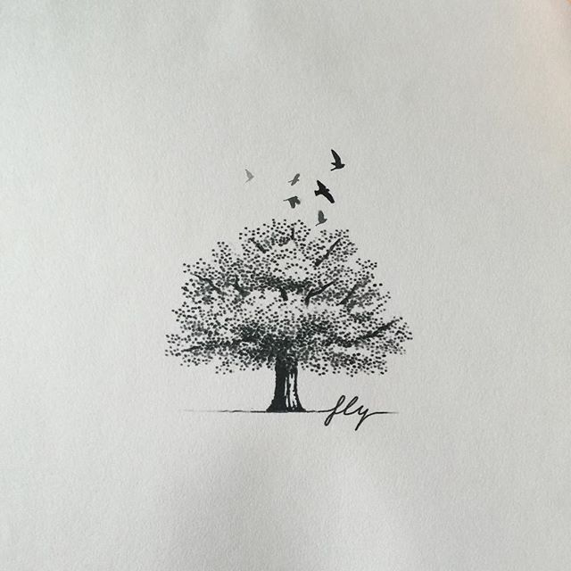Tree design for Danny :) - #타투 #그라피투 #타투이스트리버 #디자인 #그림 #디자인 #아트 #일러스트 #tattoo #graffittoo #tattooistRiver #design #painting #drawing #art #Korea #KoreaTattoo #tree #bird #나무 #새타투