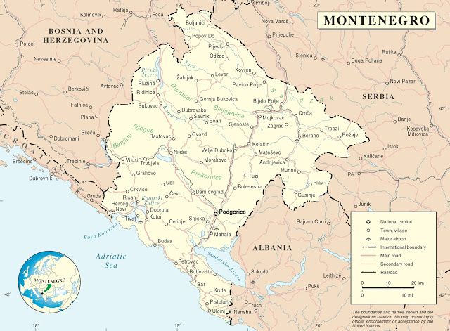 Here you can find different #maps of #Montenegro