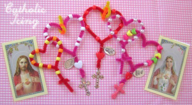 Cute St. Valentine's Religion Class Craft.  Love this Website!
