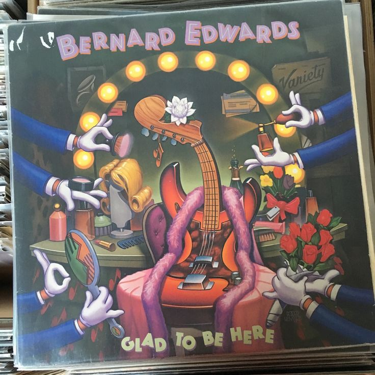 Vinyl Wednesday: Bernard Edwards - GLAD TO BE HERE Again a bass player who influenced many.. #vinyl #vinylwednesday #bass #funk #chic