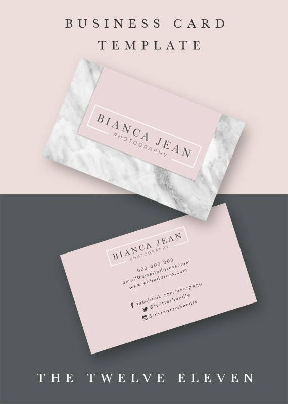 Business Cards Calling Card Marketing Business Elegant Modern Chic Photoshop Editable Girly Business Cards Business Cards Business Card Inspiration