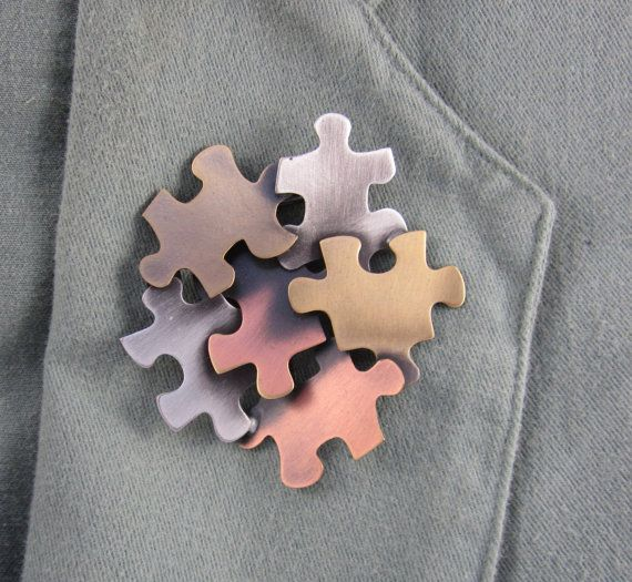 Autism Awareness Brooch by PINSwithPERSONALITY on Etsy, $22.00