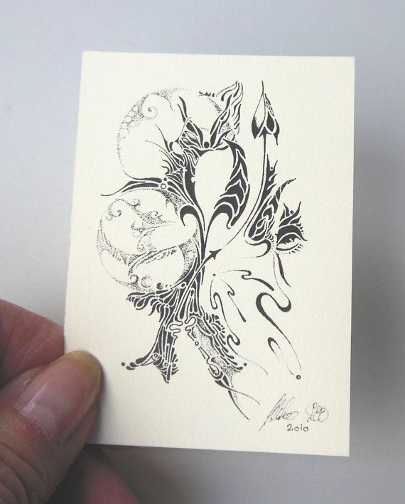 ACEO Aries one of our 12 Zodiac Signs Pen by LoesManfredCreations