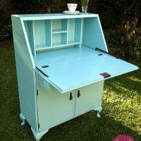 Artemis Collection - Robins Egg Blue Secretary Desk