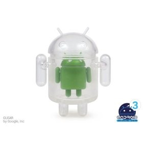 Android Mini Series 3 Clear by Google Inc 1/16 Figure