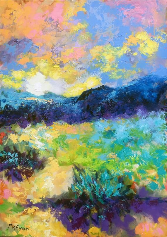 This Is An Original One Of A Kind Original Oil Painting Very Bright And Beautifully Re Oil Painting Landscape Landscape Oil Paintings Mountain Oil Pastel Art