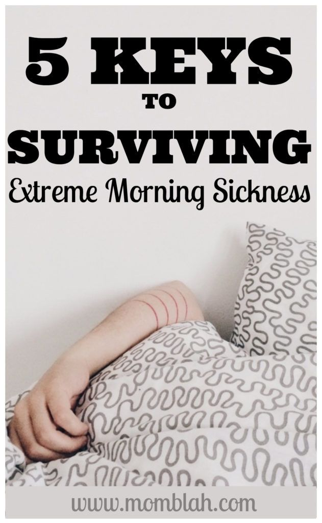 5 Keys to Surviving Extreme Morning Sickness on www.momblah.com  motherhood, pregnancy, newborns, momhacks