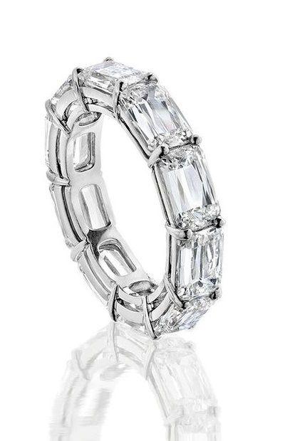 Boodles Ashoka baguette cut diamond eternity ring